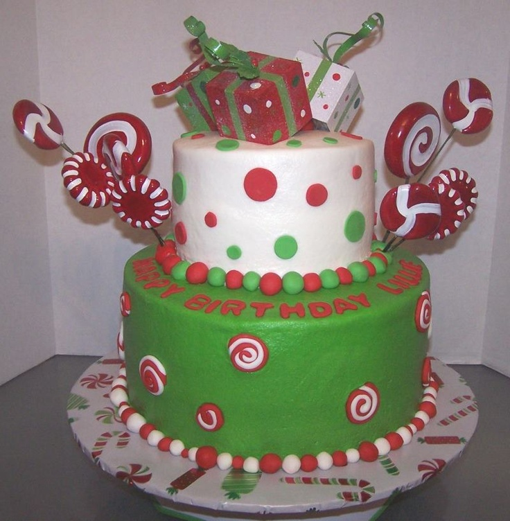10 December Christmas Birthday Cakes Photo Christmas Birthday Cake