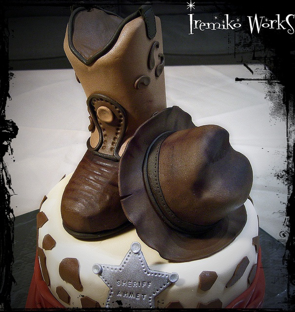 Peachy 11 Cakes With Birthday Hats And Boots Photo Cowboy Boot And Hat Funny Birthday Cards Online Inifofree Goldxyz