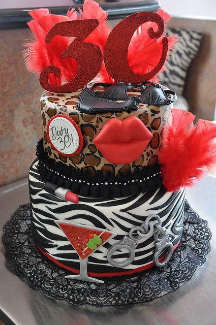 Dirty Thirty Birthday Cake