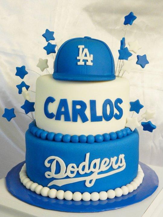 Surprising 12 Dodger Themed Cakes Photo Dodgers Birthday Cake Dodgers Funny Birthday Cards Online Benoljebrpdamsfinfo