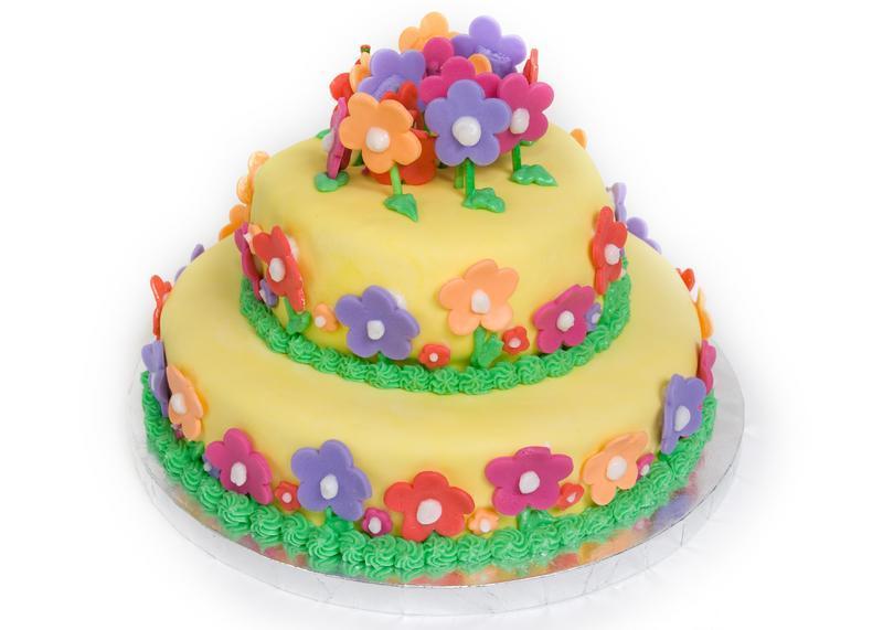 Fondant Birthday Cakes Kids