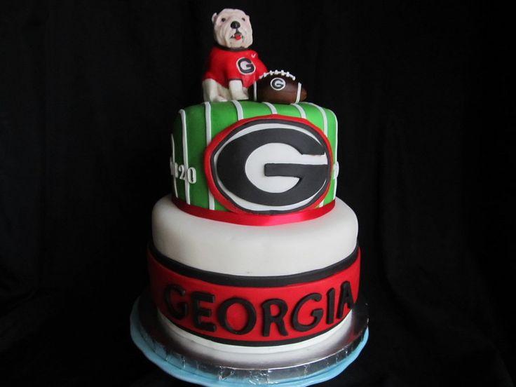 12 Georgia Bulldog Cake Toppers And Cakes Photo Football Themed