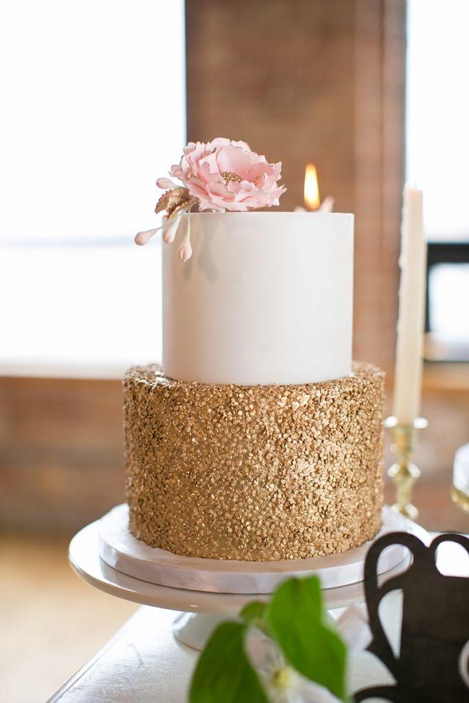 Gold Sparkle Birthday Cake