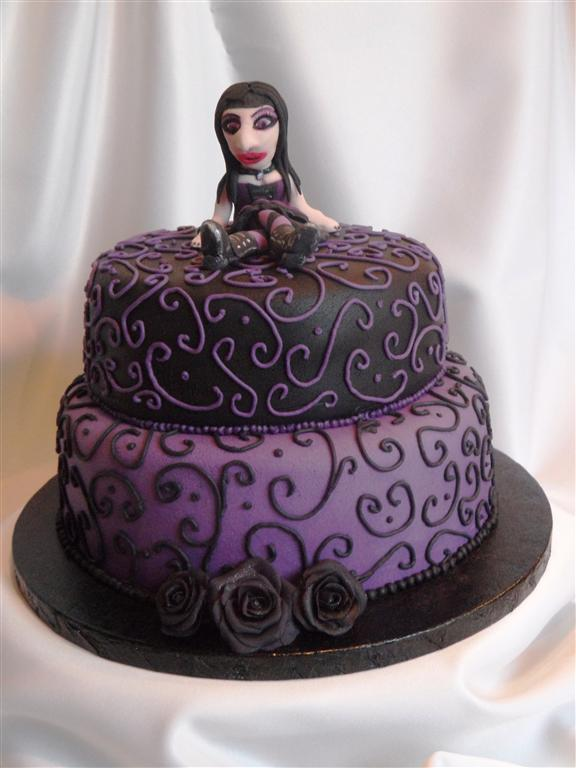 Fabulous 13 Big Gothic Birthday Cakes Photo Gothic Halloween Wedding Cake Birthday Cards Printable Inklcafe Filternl