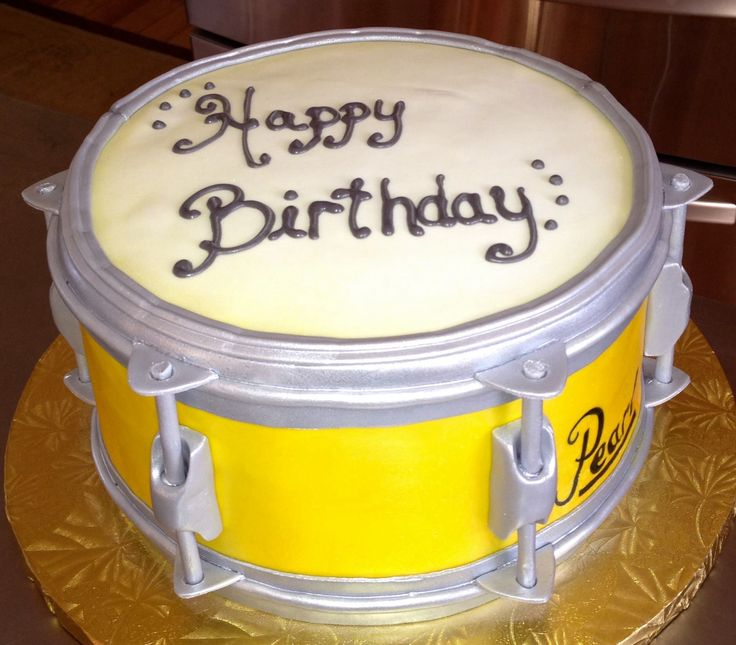8 16th Birthday Cakes For Drummers Photo Snare Drum Cake Happy