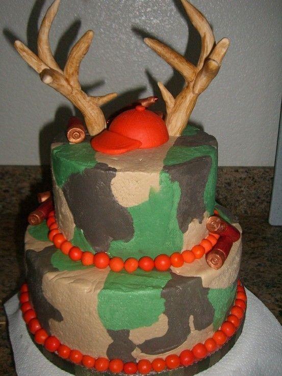 Hunting Camo Birthday Cake