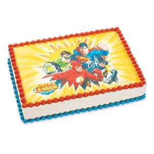Stupendous 10 Justice League Sheet Cakes Photo Justice League Birthday Cake Funny Birthday Cards Online Kookostrdamsfinfo