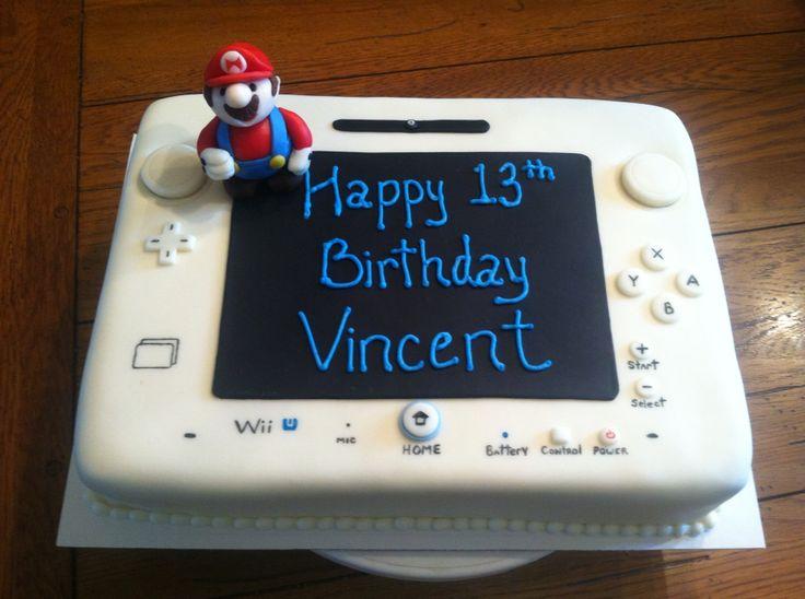 11 Wii U Birthday Cakes Photo Wii U Cake Wii U Birthday Cake And