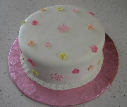 Phenomenal 9 Simple Fondant Birthday Cakes Photo Fondant Birthday Cake Funny Birthday Cards Online Bapapcheapnameinfo