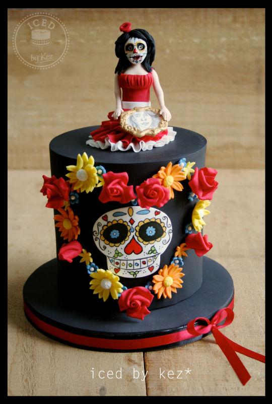 Brilliant 11 Sugar Skull Cakes For Girls Photo Sugar Skull Cake Sugar Funny Birthday Cards Online Barepcheapnameinfo