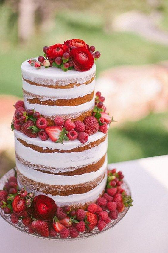9 Pinterest Wedding Cakes With Red Berries Photo