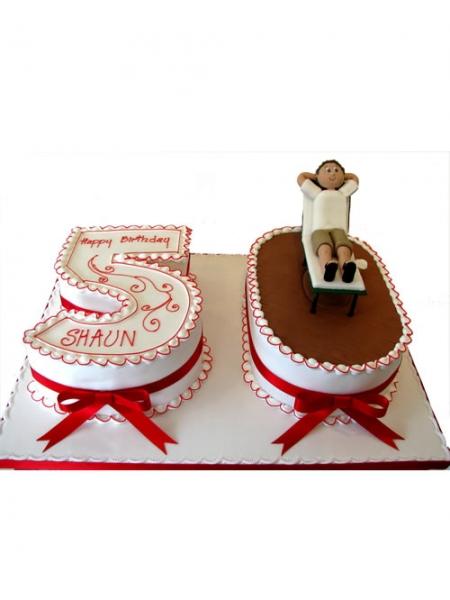 10 50 50th Birthday Shape Cupcakes Photo