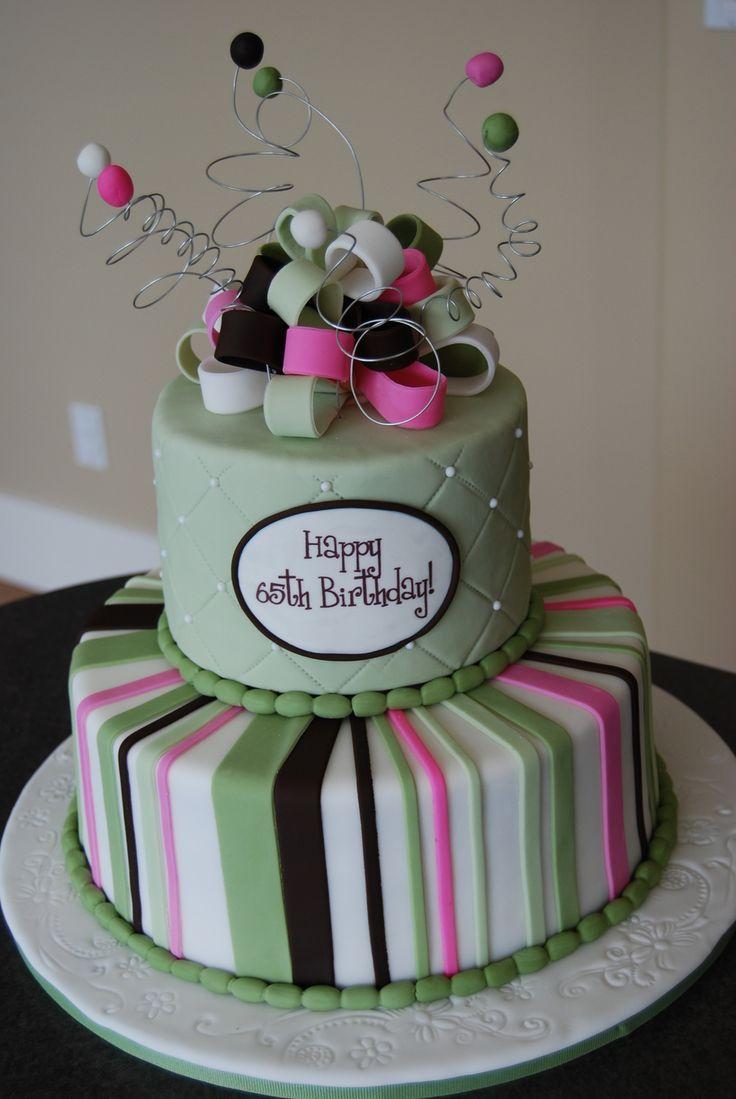 Magnificent 8 Cakes For Women Turning 65 Photo Maxine 65Th Birthday Cake Personalised Birthday Cards Veneteletsinfo