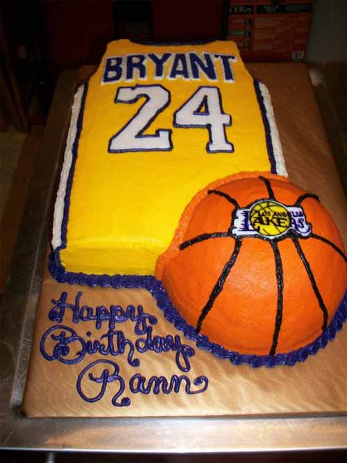 Marvelous 12 Nba Basketball Cakes Ideas Photo Basketball Cake Ideas Funny Birthday Cards Online Aeocydamsfinfo