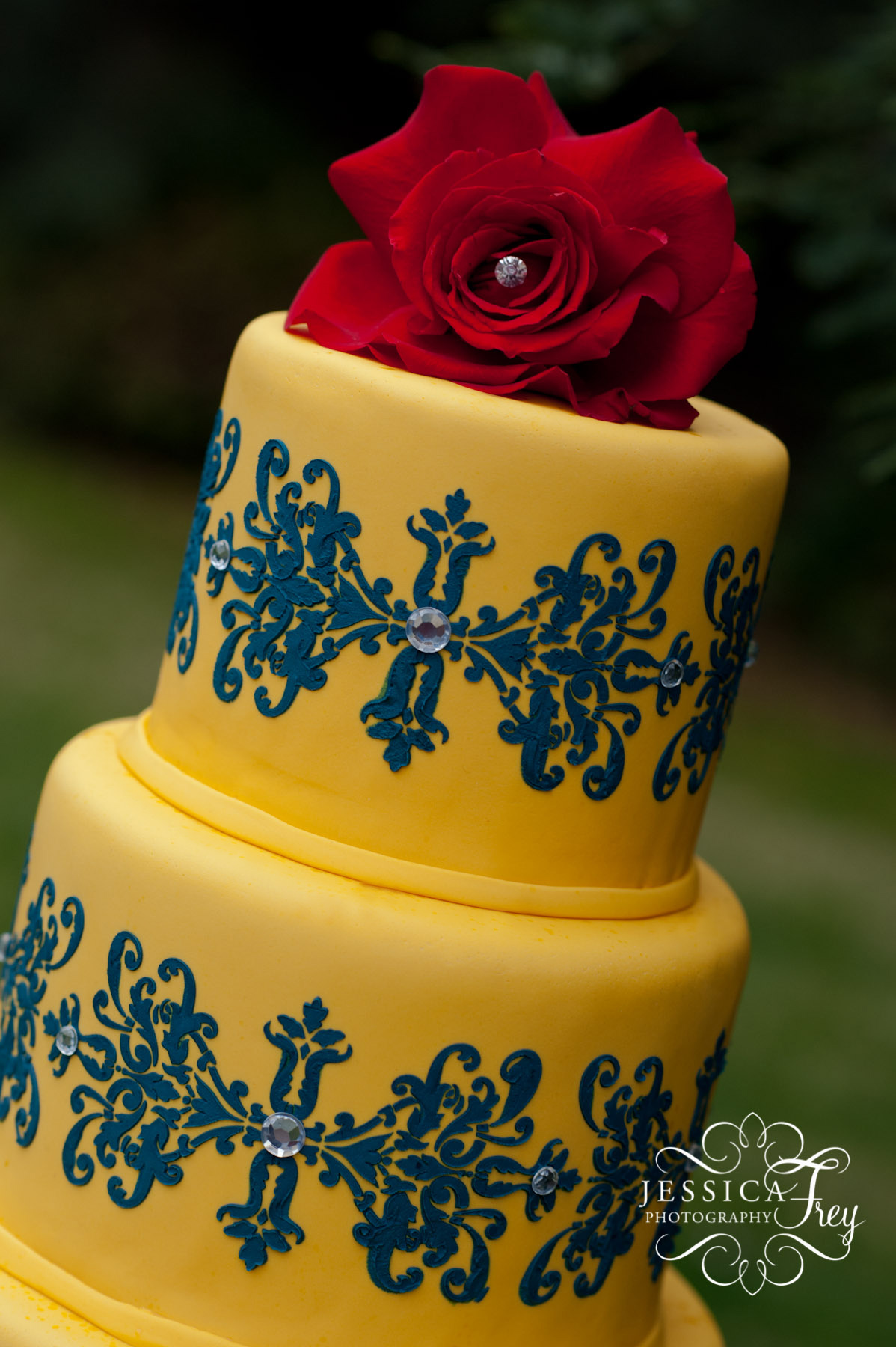 12 Red Blue Yellow Wedding Cakes Photo - Pink Blue and Yellow ...