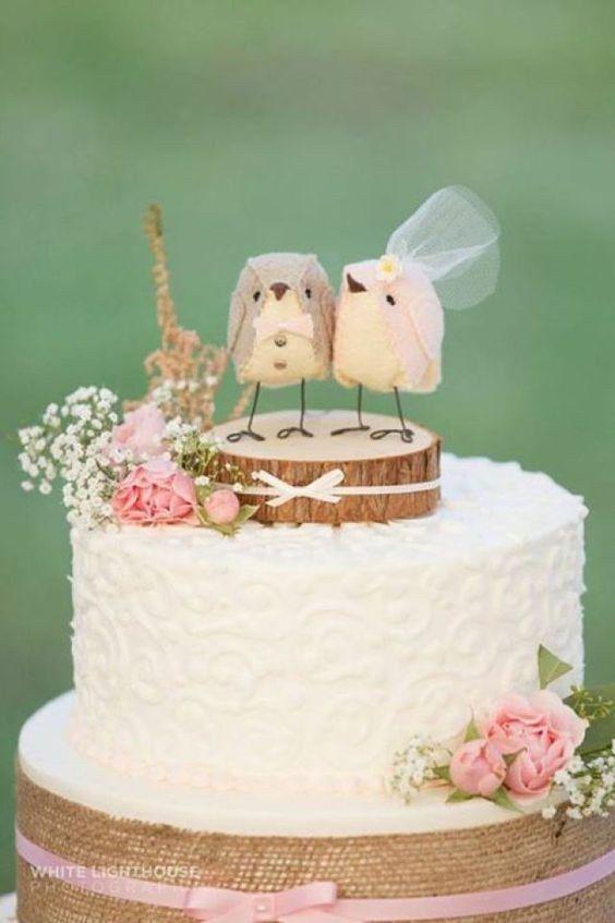 11 Small Wedding Cakes With Birds Photo - Bird Wedding Cake Toppers ...