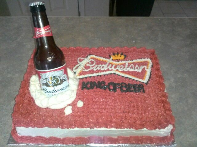 Astonishing 8 Budweiser Cakes Fondant Photo Budweiser Birthday Cake Funny Birthday Cards Online Elaedamsfinfo