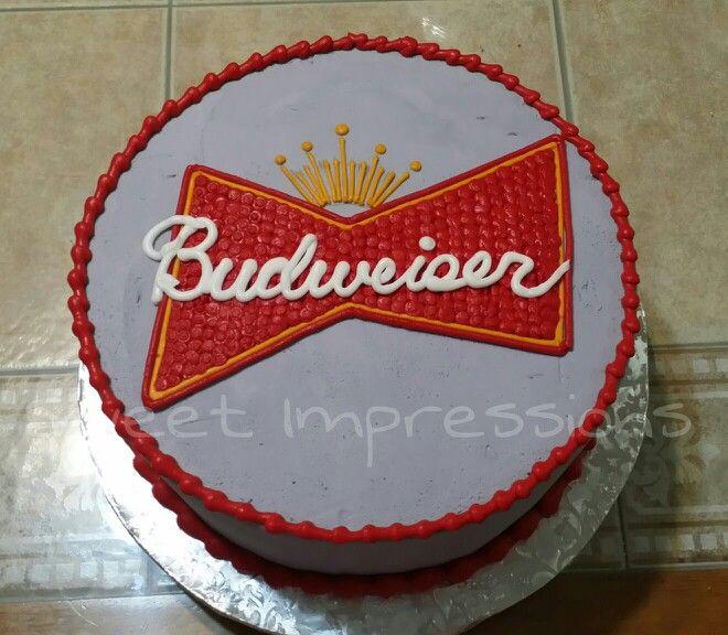 8 Budweiser Cakes Fondant Photo Budweiser Birthday Cake Budweiser