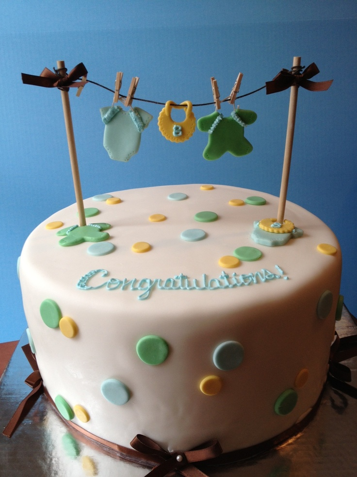 11 Clothesline Baby Shower Sheet Cakes Photo Clothesline Baby