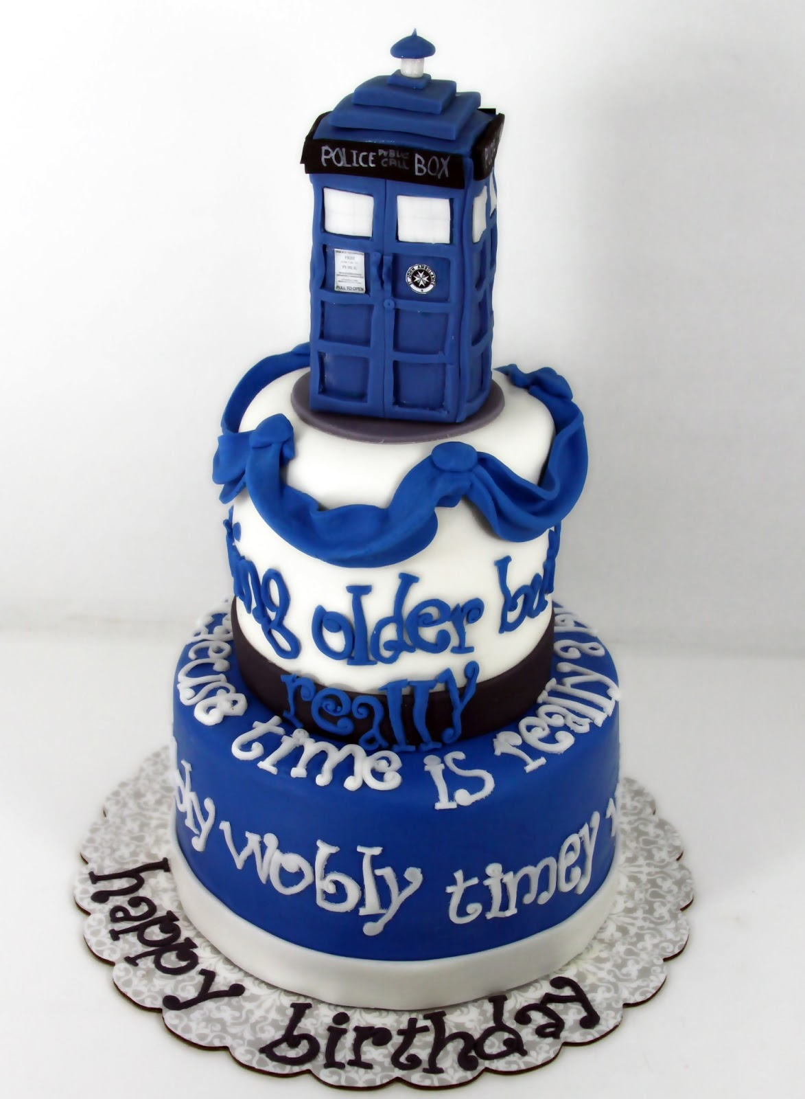 8 Doctor Who B Day Cakes Photo Doctor Who Birthday Cake Doctor