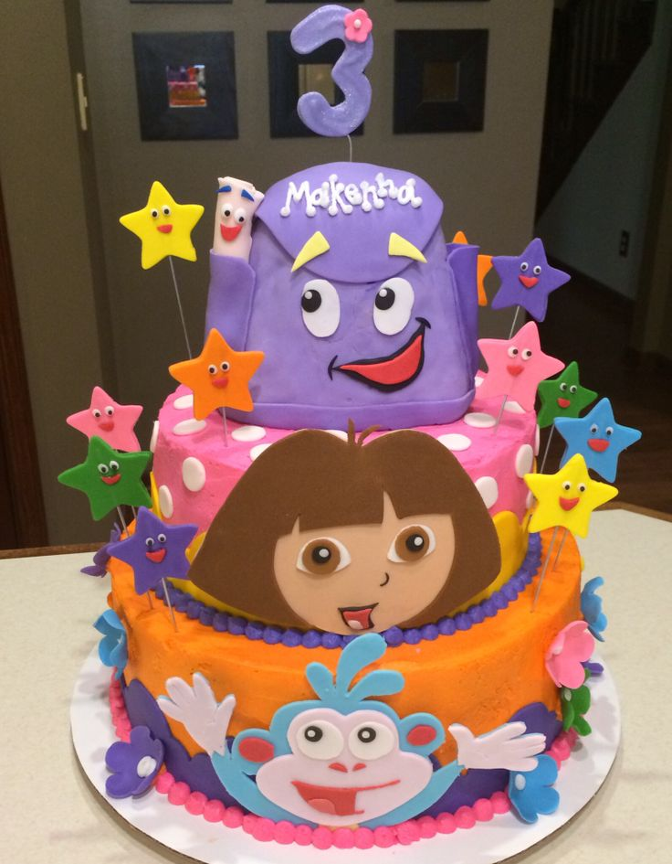 Wondrous 11 Dora Round Cakes For Birthdays Photo Dora Explorer Birthday Funny Birthday Cards Online Alyptdamsfinfo