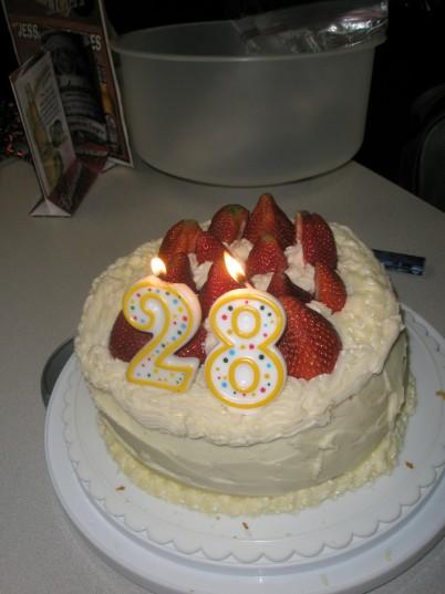 Happy 28th Birthday Cake