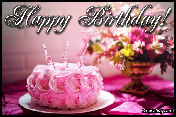 8 Bday Cakes And Flowers Graphic Photo