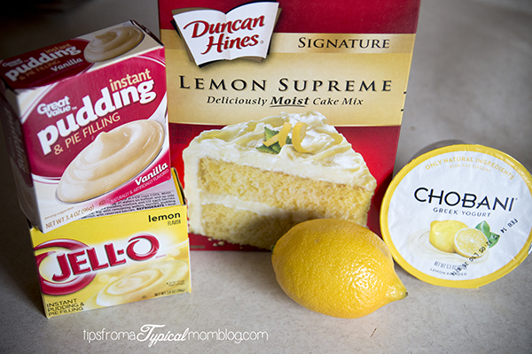 Lemon Cake Mix Cupcakes
