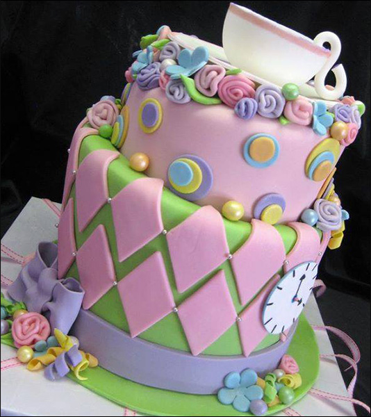 8 Crazy Mad Hatter Tea Party Cakes Photo Mad Hatter Tea Party Cake