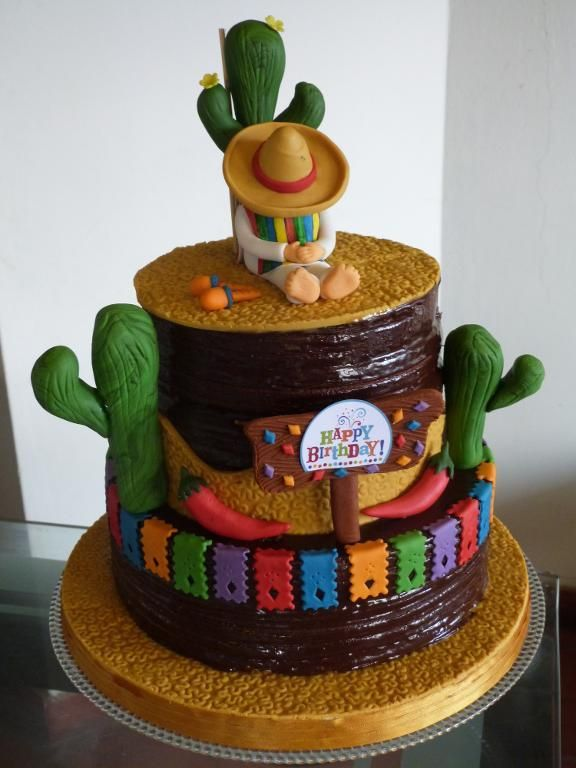 Pleasant 9 Hispanic Birthday Cakes Photo Mexican Fiesta Birthday Party Personalised Birthday Cards Beptaeletsinfo