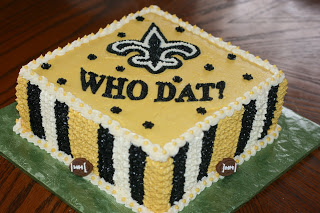 Surprising 13 Saints Birthday Cakes Homemade Photo New Orleans Saints Cake Funny Birthday Cards Online Aboleapandamsfinfo