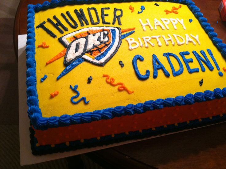 Enjoyable 10 Birthday Cakes In Oklahoma City Photo Oklahoma City Thunder Funny Birthday Cards Online Inifofree Goldxyz