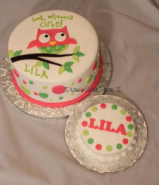 7 Owl 1st Birthday Smash Cake And Cupcakes Photo Owl Themed 1st