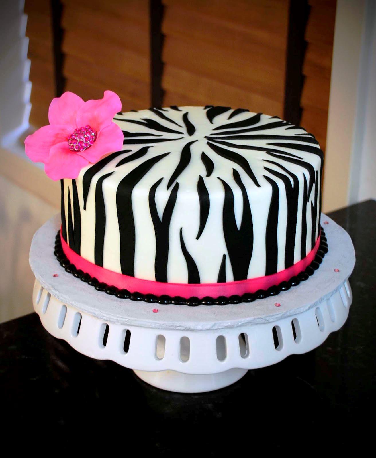 Peachy 7 Colorful Girls Zebra Birthday Cakes Photo Pink Purple And Funny Birthday Cards Online Alyptdamsfinfo