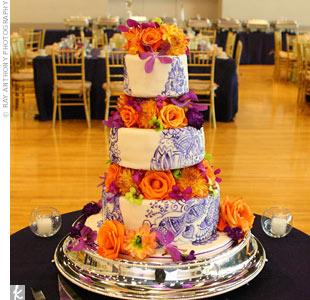 10 Green Purple Orange Weddings Cakes Photo - Purple Green and ...