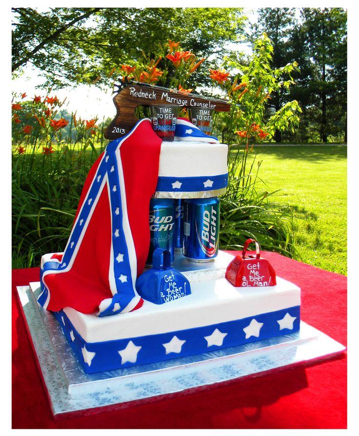 Redneck Wedding Cake