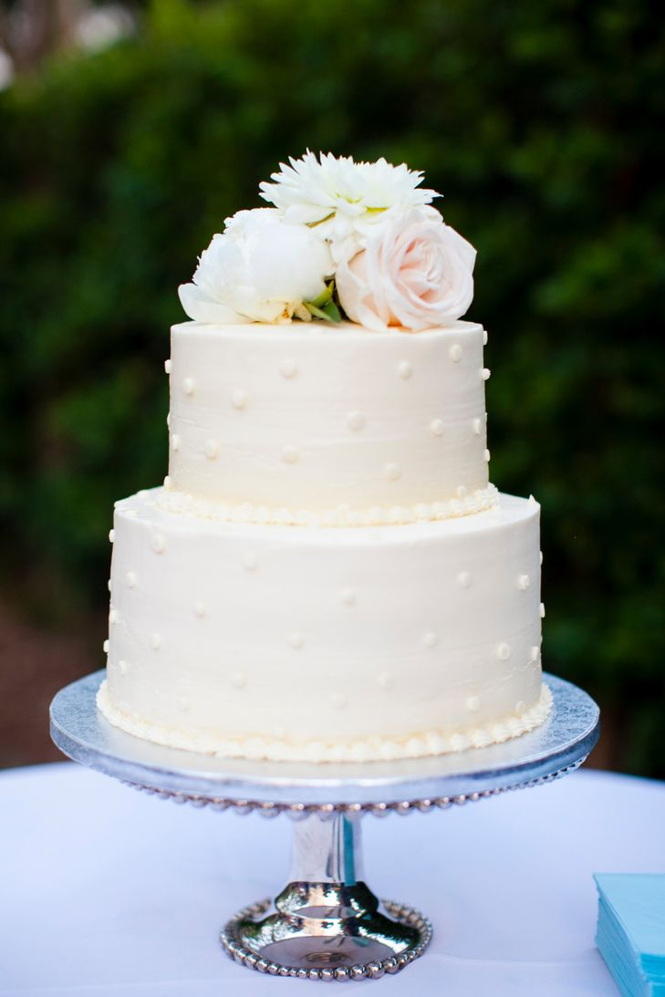 11 2 Tier Wedding Cakes Plain With Butter Cream Photo - Simple ...