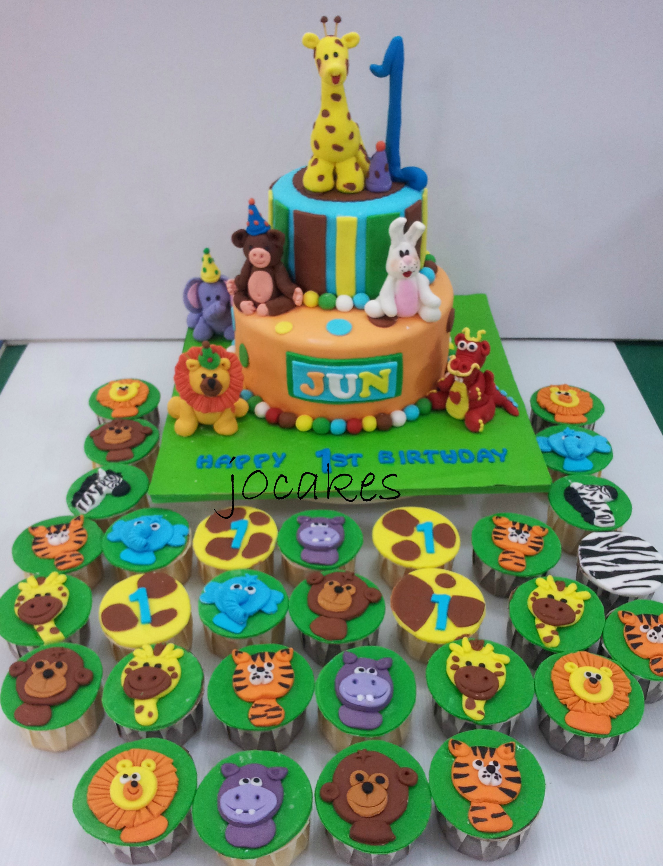 13 birthday cakes for 2 year old boy animals photo - jungle animal