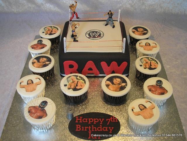 11 Wwe Birthday Cakes And Cupcakes Photo Wwe Wrestling Birthday