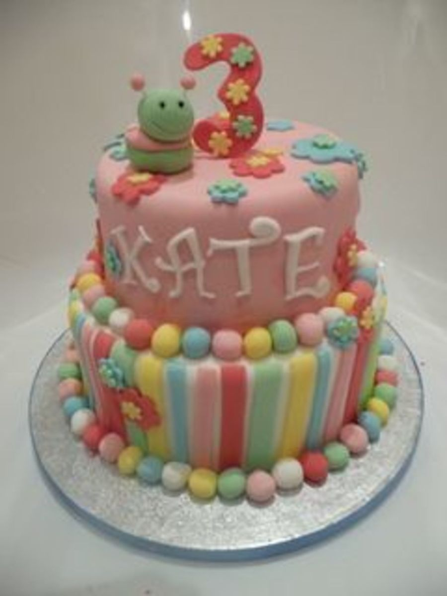 3 Year Old Girl Birthday Cake