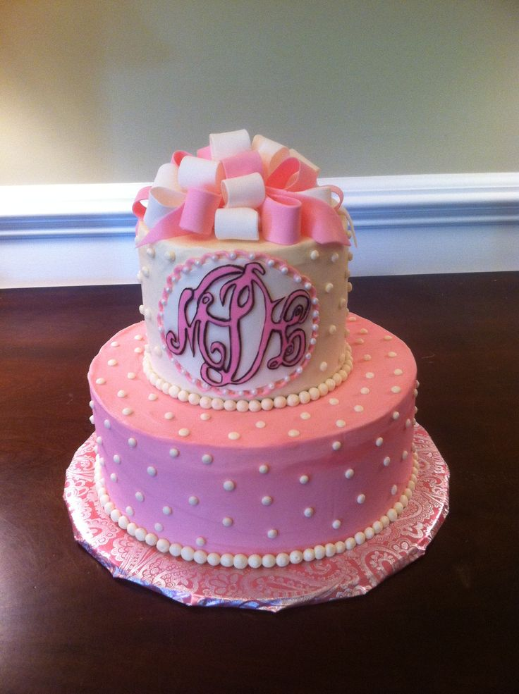 10 Lady S Birthday Cakes With Monograms Photo 50th Cake