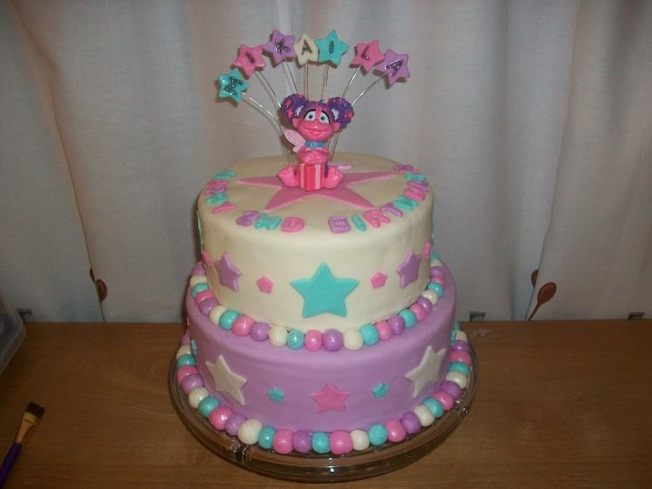 Remarkable 11 Abby Cadabby Themed Cakes Photo Abby Cadabby And Elmo Cake Personalised Birthday Cards Veneteletsinfo