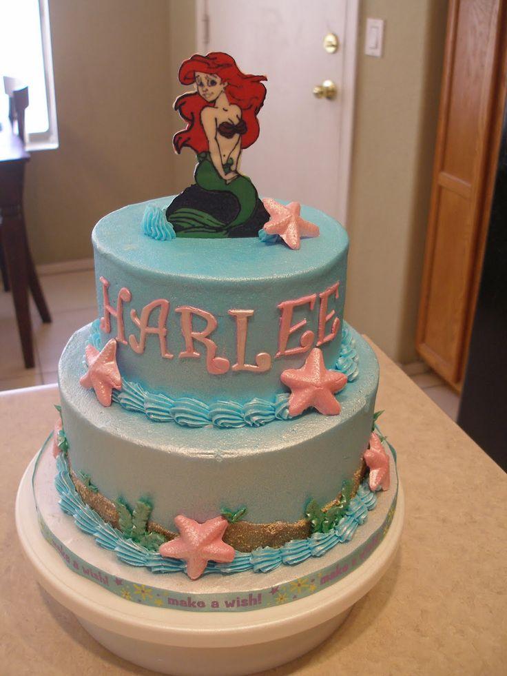 Superb 8 Little Mermaid Daughter Cakes Disney Photo Ariel Little Funny Birthday Cards Online Drosicarndamsfinfo