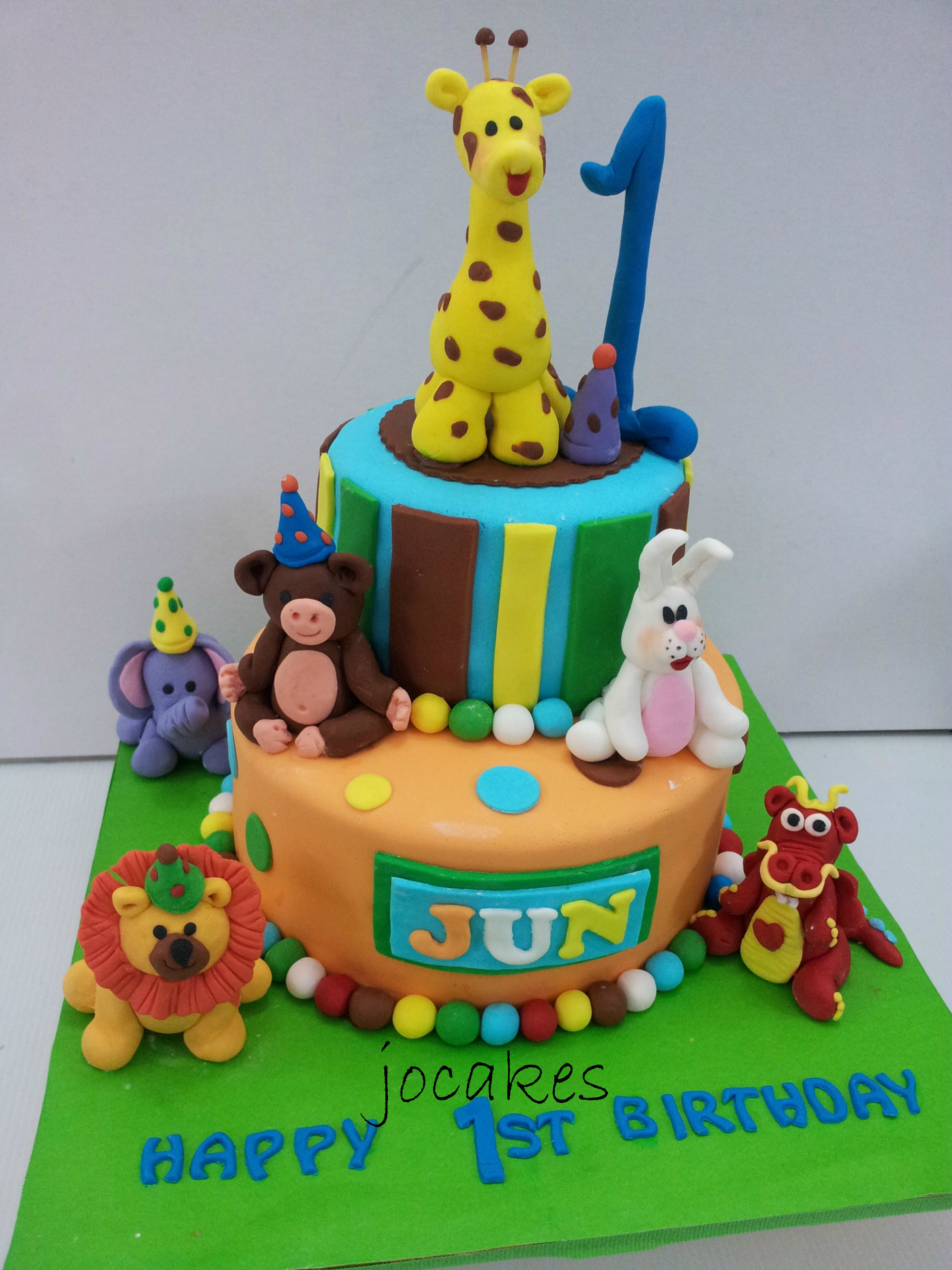 Birthday Cake For A 1 Year Old Party Theme