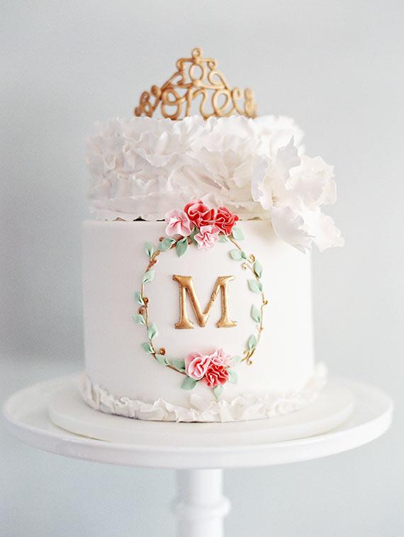 8 Elegant Girls First Birthday Cakes Photo Little Girls 1st