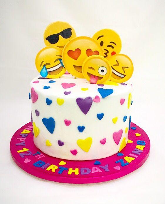 8 Sleep Emoji Birthday Cakes Photo
