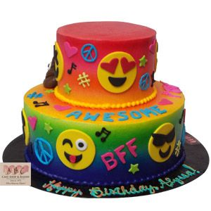 8 Emoji Dancer Happy Biryhday Cakes Photo