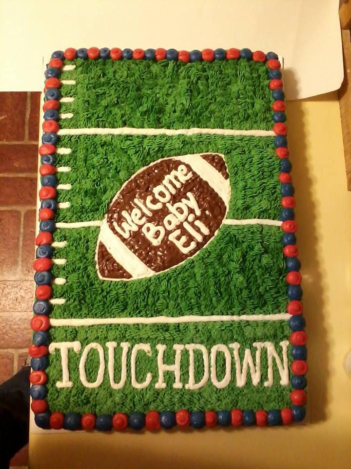 Lovely Football Theme Baby Shower Cake
