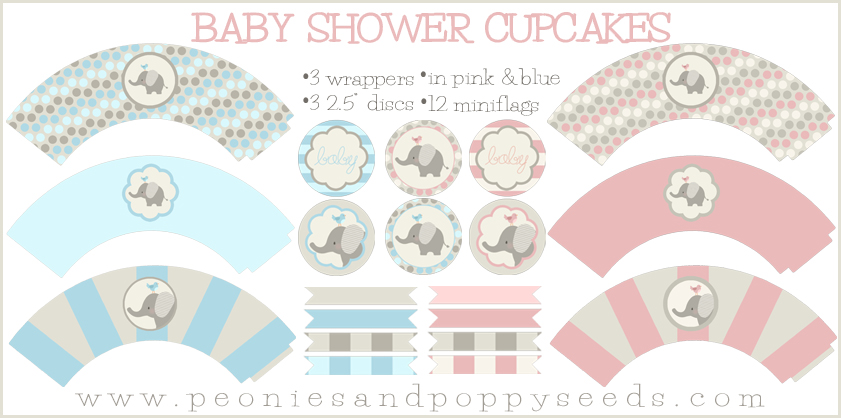 Free Printable Baby Shower Cupcake Toppers