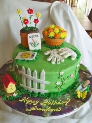Garden Birthday Cake Ideas